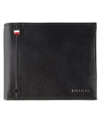 Tommy Hilfiger Men's Leather Palmer Passcase Black