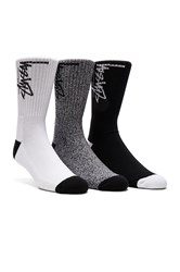 Stussy 2 Pack No Show Socks Black And White