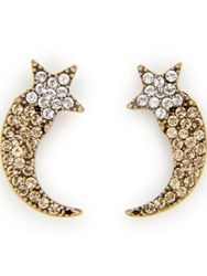 Marc Jacobs Paradise Shooting Star Crystal Studs Gold Plated