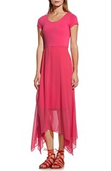 Women's Vince Camuto Asymmetrical Chiffon Overlay Cap Sleeve Dress