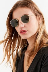 Vintage Moment Round Sunglasses Gold