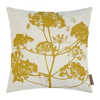Clarissa Hulse Angelica Cushion 55X55cm Natural Linen Dark Quince