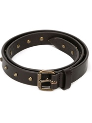 Tomas Maier Studded Belt Brown