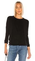 Frank And Eileen Relaxed Long Sleeve Sweatshirt In Black.