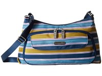 Baggallini Everyday Bagg Tropical Stripe Cross Body Handbags Navy