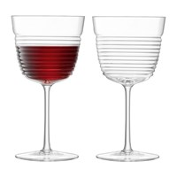 Lsa International Groove Wine Goblet Set Of 2