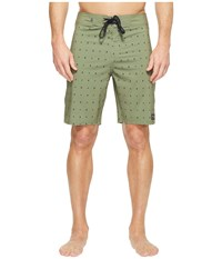 United By Blue River Bed Boardshorts Olive Men's Swimwear