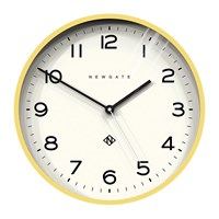 Newgate Number Three Echo Wall Clock Yellow