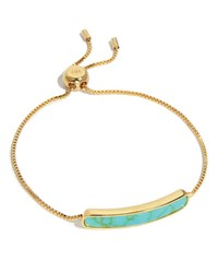 Tai Synthetic Turquoise Id Tennis Bracelet Gold Turquoise