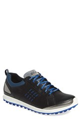 Men's Ecco 'Biom Hybrid 2 Gtx' Golf Shoe Black Royal Leather