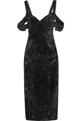 Rachel Zoe Kinsley Off The Shoulder Velvet Dress Black