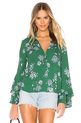 Cupcakes And Cashmere Stockton Blouse Green