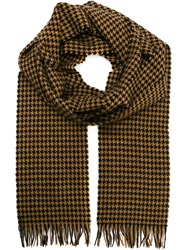 Raf Simons Houndstooth Scarf Nude And Neutrals