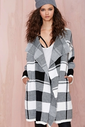 Nasty Gal Check On It Sweater Coat