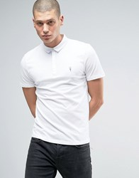 Allsaints Polo Shirt With Branding Optic White