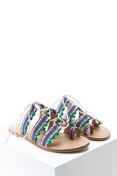Forever 21 Tribal Print Toe Ring Sandals