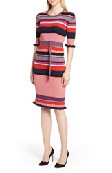 Boss Fantonia Stripe Knit Sheath Dress Black Fantasy