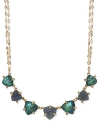 Lonna And Lilly Gold Tone Blue Stone Collar Necklace Blue Green