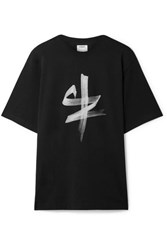 Vetements Printed Cotton Jersey T Shirt Black