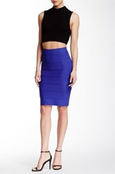 Romeo And Juliet Couture Bandage Pencil Skirt Blue