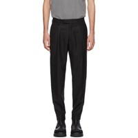 Moncler Black Wool Sport Trousers