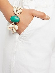 Ouroboros By The Sea Shell Turquoise Bracelet By At Free People