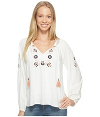 Sanctuary Freya Boho Blouse Muslin Women's Blouse Bone