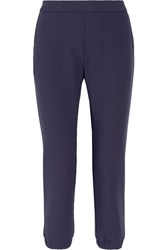 Hatch The Mirabelle Stretch Crepe Track Pants Midnight Blue