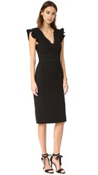 Rebecca Taylor Sleeveless Lace Trim Dress Black