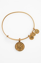 Alex And Ani 'New York Mets' Expandable Charm Bangle Gold