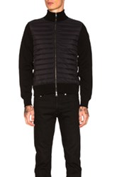 Moncler Maglia Zip Sweater In Black