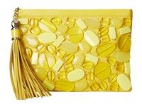 Rafe New York Large Celia Clutch Lemon Drops Clutch Handbags Green