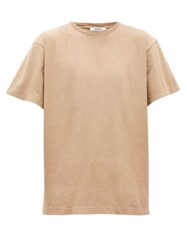 Hope Set Crew Neck Cotton T Shirt Beige