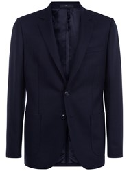 Jaeger Lambswool Regular Fit Blazer Navy