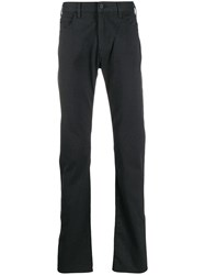 Emporio Armani Regular Fit Trousers Grey