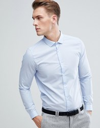 Burton Menswear Skinny Smart Shirt In Blue Blue