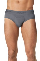 Men's Tommy John 'Second Skin' Briefs Turbulence Grey