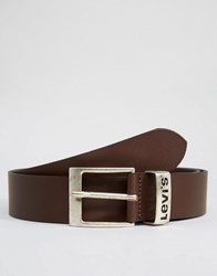 Levi's Leather Belt With Logo Keeper Brown Brown
