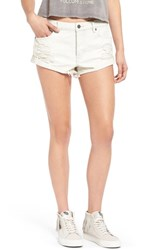 Women's Volcom Distressed Denim Shorts White