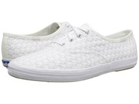 Keds Champion Mini Daisy White Women's Lace Up Casual Shoes