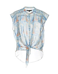 Andy Warhol By Pepe Jeans Shirts Sky Blue