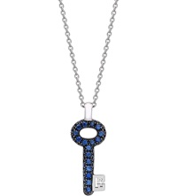 Theo Fennell Sapphire Mini Spangle Key Pendant