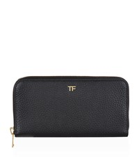 Tom Ford Continental Zipped Wallet Black