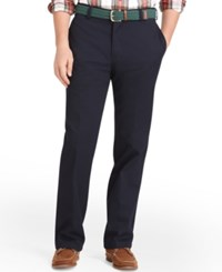 Izod American Classic Fit Wrinkle Free Flat Front Chino Pants Navy