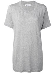 Dondup Sunbury Long T Shirt Women Elastodiene Viscose Xs Grey