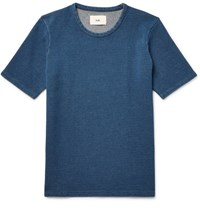 Folk Slim Fit Knitted Cotton T Shirt Navy