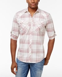 Inc International Concepts Men's Dual Pocket Plaid Shirt Only At Macy's Grecian Throne