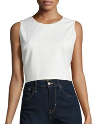 Erin Fetherston Knit Cropped Top Ivory