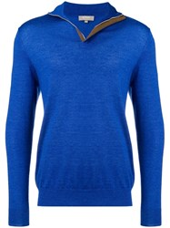 N.Peal The Regent Cashmere Pullover Blue