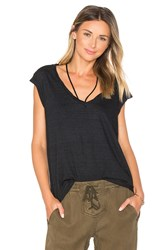 Pam And Gela V Neck Tee With Strings Black